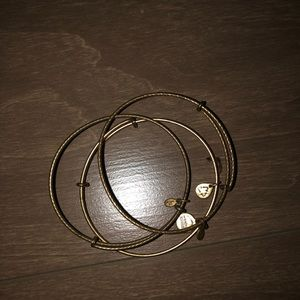 3 Gold Alex and ani bangles
